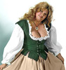 Lady's Bodice Twill-Forest Green