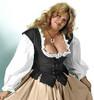Lady's Bodice Twill-Black