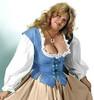 Lady's Bodice Twill-Woad Blue