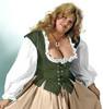 Lady's Bodice Twill-Olive