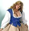 Lady's Bodice Twill-Majestic Blue