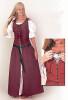 Country Dress-Burgundy