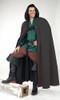 Long Cloak with Hood-Black