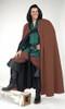 Long Cloak with Hood-Chocolate Brown