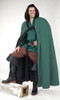 Long Cloak with Hood-Forest Green