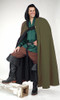 Long Cloak with Hood-Olive