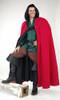 Long Cloak with Hood-Scarlet Red