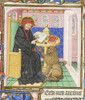 St. Mark in a black robe just like the Traveler's Robe from a 14th century French manuscript in the Morgan Library, Philadelphia.
