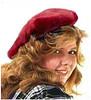 Muffin Cap in Scarlet Red