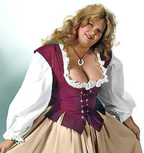 Lady's Bodice Twill-Burgundy