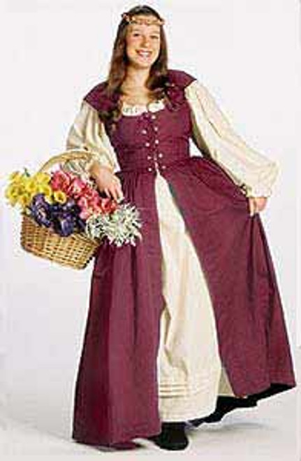 Irish Dress in Burgundy