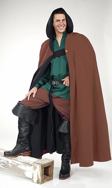 Wool Cloak with Hood