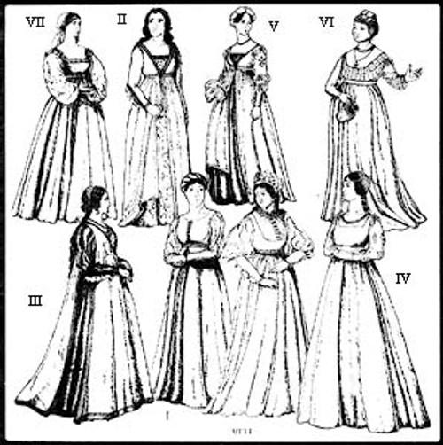 Renaissance italian dress patterns rare photo