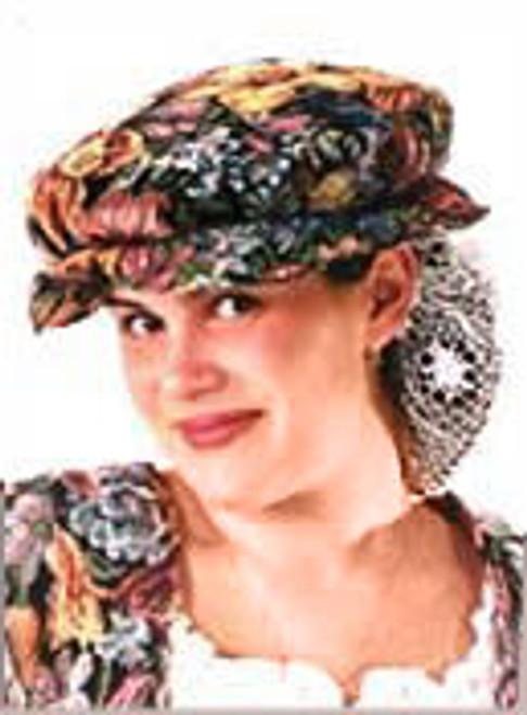 Brocade Elizabethan Cap