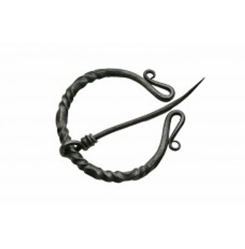 Twisted Medieval Cloak Pin 4""