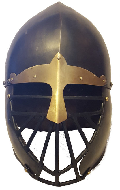 Aesir Metalwyrks Conical Norse Helm Front