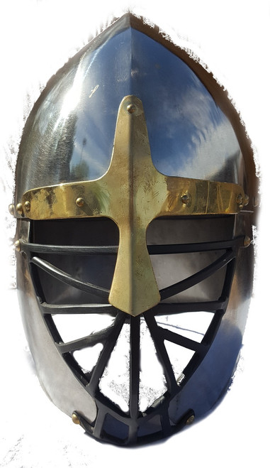 Aesir Metalwyrks Conical Norse Helm Front Polished