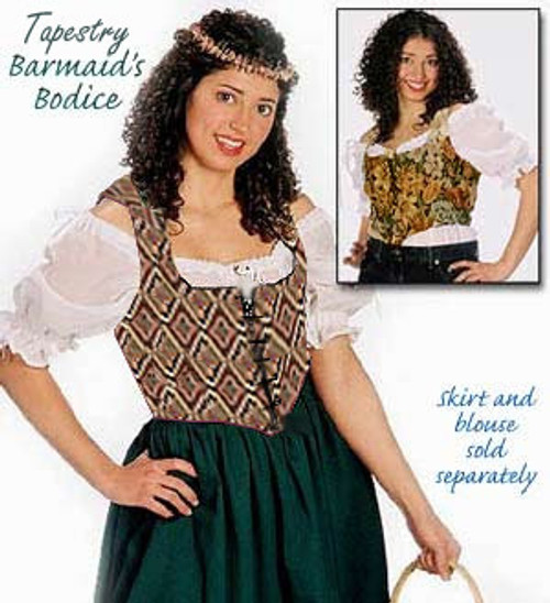 Brocade Barmaids Bodice Size 2X Fabric A16