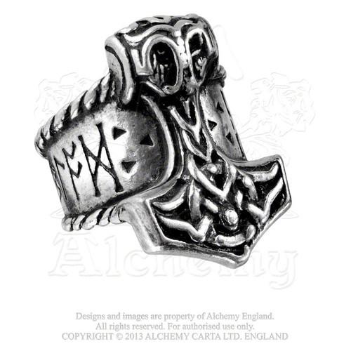Thor's Runehammer Ring