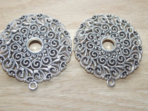 Viking Apron Brooches - Antique Silver Tone