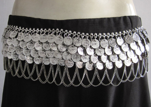 Vintage Four Coin Chain Belt