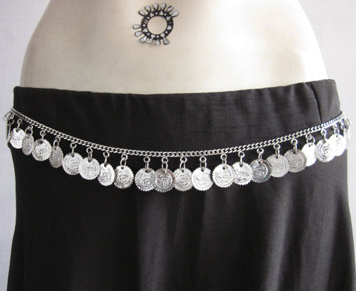 Boho Single Coin Chain Belt