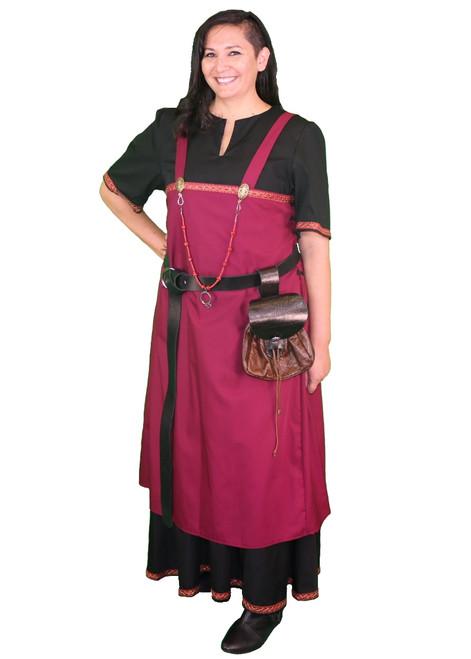 Viking Apron Dress with Trim