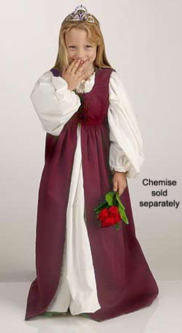 Girls' Irish Dress-Burgundy