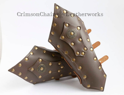 Large Gothic Bracers in Brown