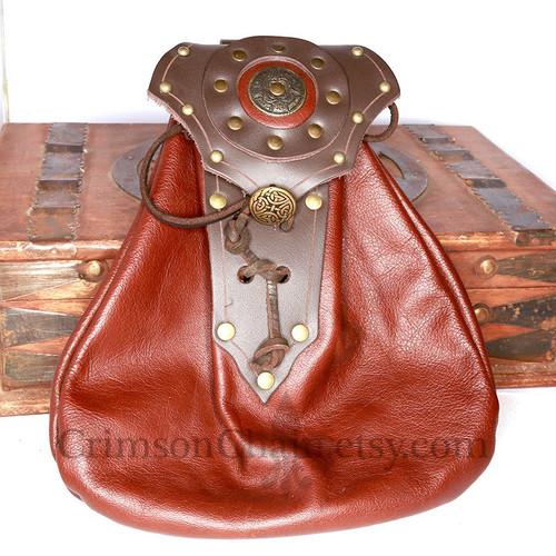 Fancy Leather Sporran Front