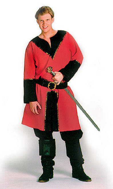 Twill Horseman's Tunic in Scarlet Red