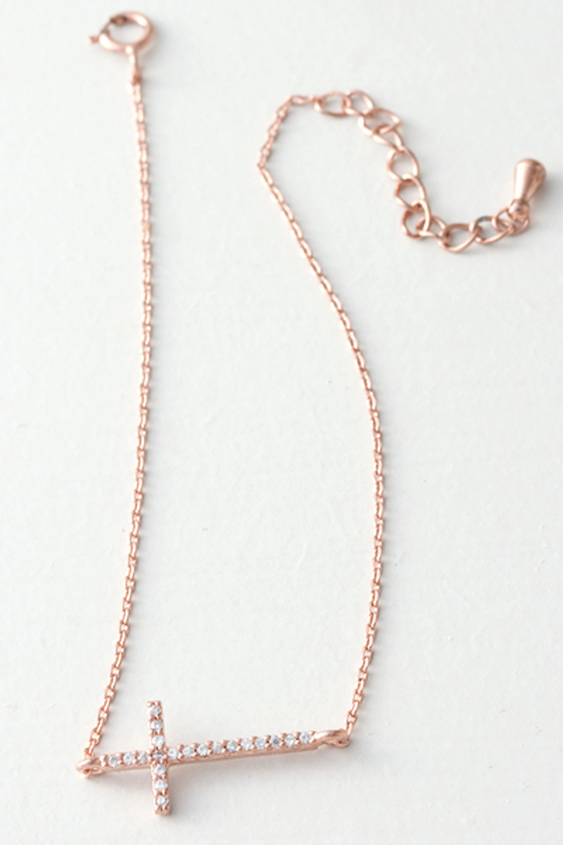 Sideways Cross Bracelets Rose Gold Silver Boys Jewelry rhcv.be