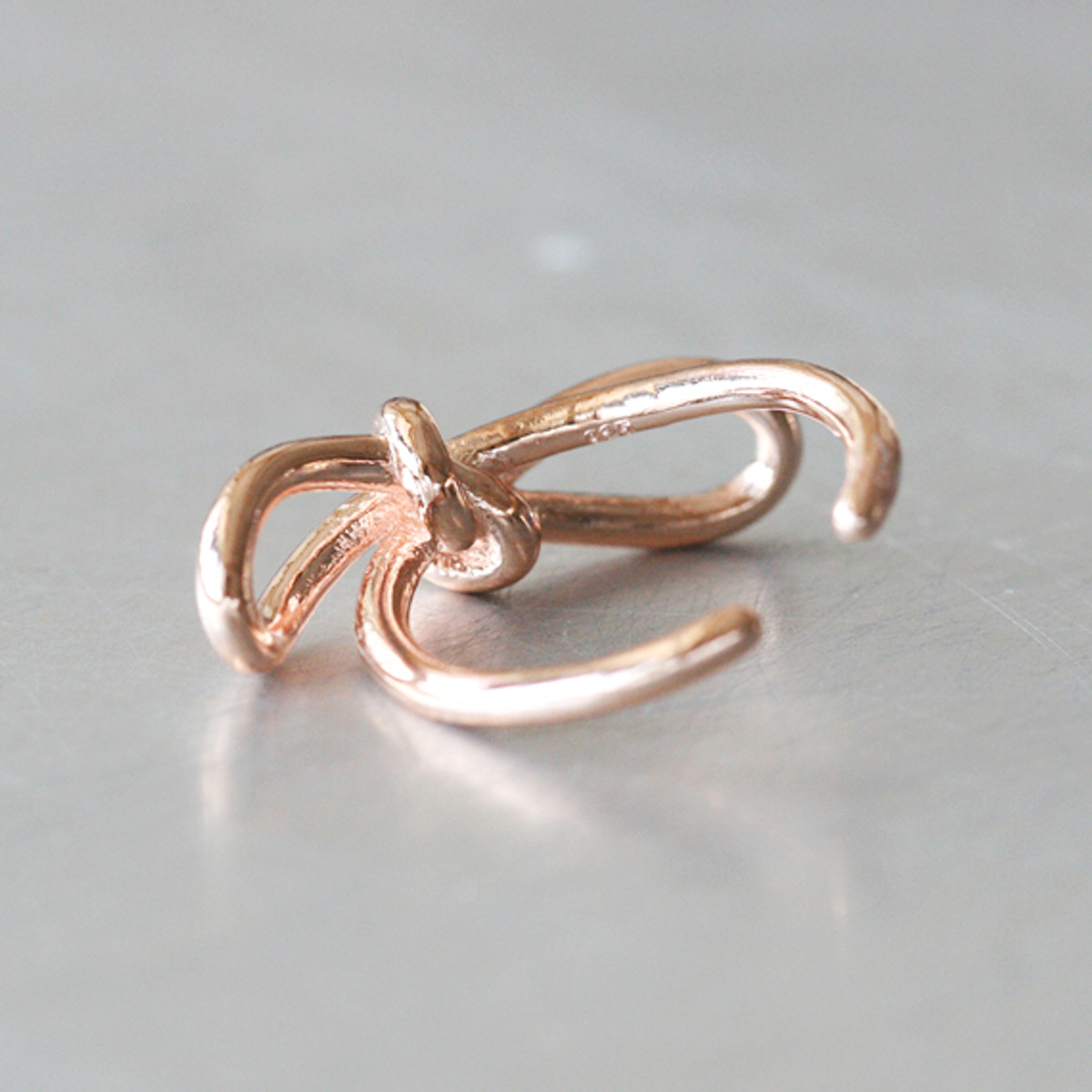 Rose Gold Promise Bow Knot Ring Sterling Silver Kellinsilver Com