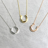 Twist Horseshoe Necklace Sterling Silver from kellinsilver.com