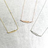Horizontal Feather Necklace Sterling Silver from kellinsilver.com