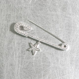 Pave Starfish Charm Safety Pin from kellinsilver.com