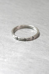 Oxidized Sterling Silver Cross Stackable Ring from kellinsilver.com