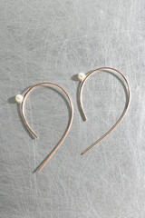 Swarovski Pearl Emily Curved Wire Earrings Sterling Silver from kellinsilver.com