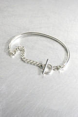 Sterling Silver Toggle Half Chain Bracelet from kellinsilver.com