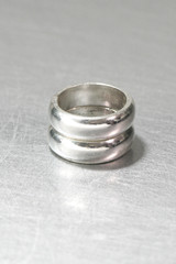 6mm Bold Round Band Ring Set Sterling Silver from kellinsilver.com