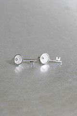 Silver Key Stud Earrings from kellinsilver.com