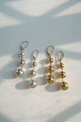 Sterling Silver Three Ball Dangle Earrings from kellinsilver.com