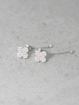 Opal Clover Stud Earrings With CZ Charm Sterling Silver from kellinsilver.com