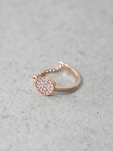 Opal Circle Half Chain Ring Rose Gold from kellinsilver.com