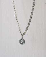 Oxidized Elizabeth Coin Ball Chain Necklace Sterlling Silver from kellinsilver.com
