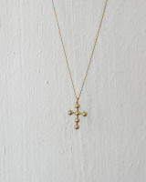 Small Dot Gold Cross Necklace Sterling Silver from kellinsilver.com