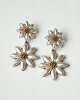 Antique Gold Pearl Daisy Dangle Earrings from kellinsilver.com
