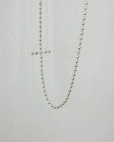 Bubble Sideways Cross Necklace Sterling Silver from kellinsilver.com