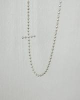 Bubble Sideways Cross Necklace Sterling Silver from kellinsilver.com