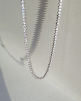 CZ Marquis Tennis Chain Necklace Sterling Silver from kellinsilver.com